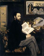 Emile Zola'nın Portresi, 1868, Tuval üzerine yağlıboya, 146.5 x 114 cm,  Musée d'Orsay, Paris, Fransa.