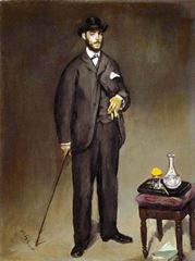 Théodore Duret'nin Portresi, 1868, Tuval üzerine yağlıboya, 46.5 x 35.5 cm, Petit Palais, Paris, Fransa.