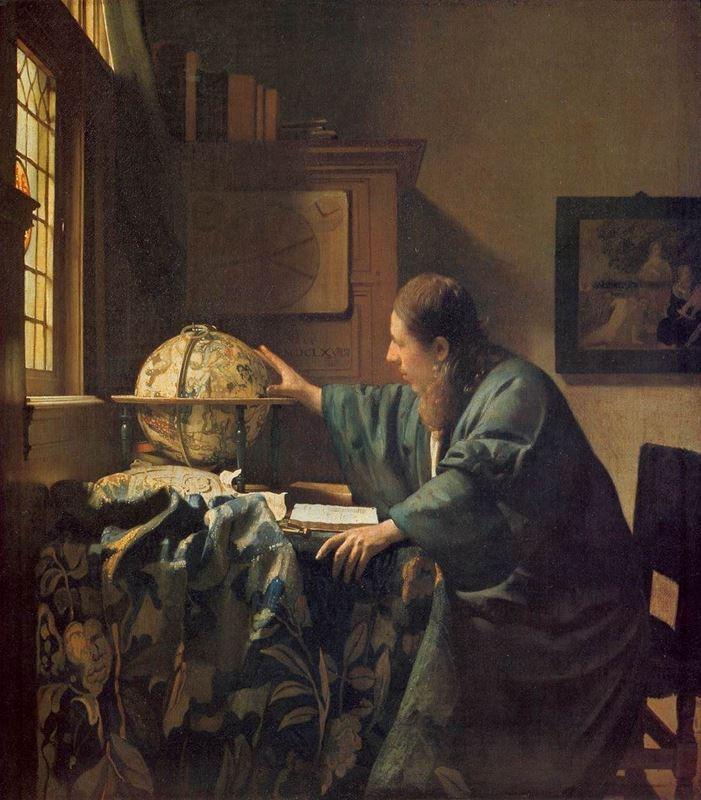 Gökbilimci, 1668, 51 x 45 cm, Tuval üzerine yağlıboya, Musée du Louvre, Paris, Fransa.