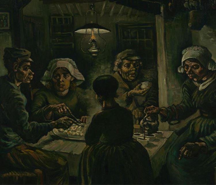 Patates Yiyenler, 1885 picture