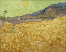 Show Wheatfield with a Reaper, 1889 details