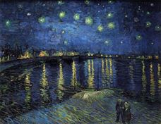 Show Starry Night over the Rhone, 1888 details