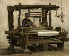 Show Loom with Weaver, 1884 details