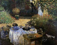 Bahçede Yemek, 1874 dolayları, Tuval üzerine yağlıboya, 160 x 201 cm, Musée d'Orsay, Paris, Fransa.