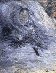 Camille Monet Ölüm Döşeğinde, 1879, Tuval üzerine yağlıboya, 90 x 68 cm, Musée d'Orsay, Paris, Fransa.