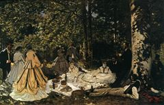 Kırda Öğle Yemeği, 1865, Tuval üzerine yağlıboya, 130 x 181, The Pushkin Museum of Fine Arts, Moscow, Rusya.