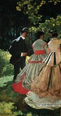 Show Lunch on the Grass (left part), 1865-1866 details