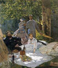 Kırda Öğle Yemeği (orta bölüm), 1865-1866, Tuval üzerine yağlıboya, 248 x 217, Musée d'Orsay, Paris, Fransa.