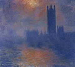 Parlamento Binası, Güneş Sisin Ardında, 1904, Tuval üzerine yağlıboya, 81 x 92 cm, Musée d'Orsay, Paris, Fransa.