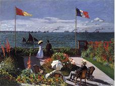 Show Garden at Sainte-Adresse, 1867 details