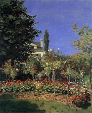 Show Garden in Bloom in Sainte-Adresse, c.1866 details