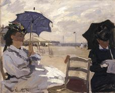 Show The Beach at Trouville, 1870 details