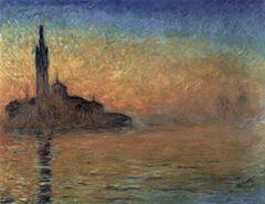 Venedik'te Akşam, 1908, Tuval üzerine yağlıboya, 73 x 92 cm, Bridgestone Museum of Art, Tokyo, Japonya.
