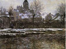Kışın Vétheuil Kilisesi, 1879