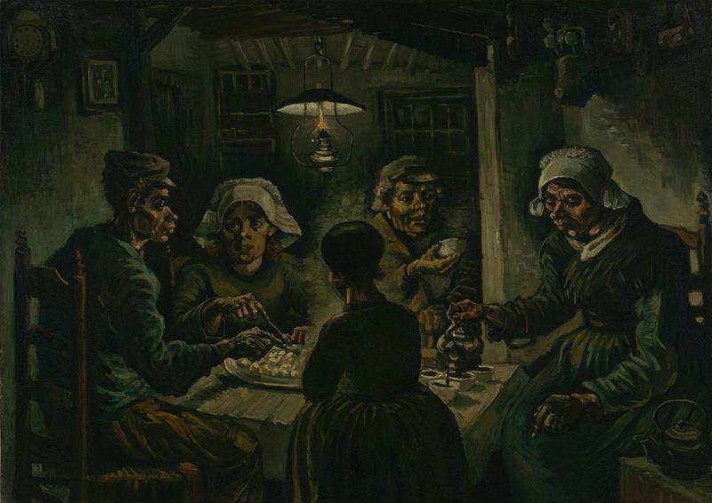 Patates Yiyenler, 1885 resmi