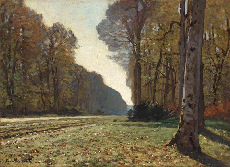 Chailly'de Ağaçlıklı Yol, 1865 resmi