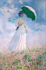 Show Woman with a Parasol, Turned to the Right, 1886 details