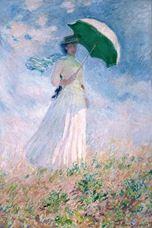 Şemsiyeli Kadın, Sağa Dönmüş Kadın, 1886