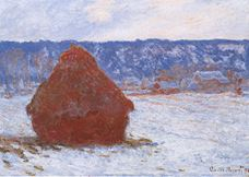 Show Haystack, Snow Effect, Overcast, 1890-1891 details
