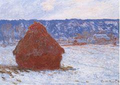 Saman Balyası, Kar Etkisi, Kapalı Hava, 1890-1891, Tuval üzerine yağlıboya, 66 x 93 cm, The Art Institute of Chicago, Chicago, ABD.