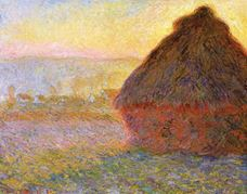Show Haystacks, Sunset, 1891 details