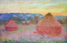 Show Haystacks, End of Day, Autumn, 1890-1891 details