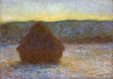 Show Haystacks, Thaw, Sunset, 1890-1891 details