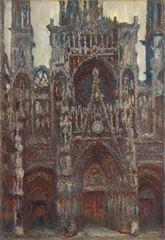 Rouen Katedrali, Ana Giriş, 1892, Tuval üzerine yağlıboya, 107 x 74 cm, Muséed'Orsay, Paris, Fransa.