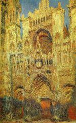 Rouen Katedrali (Akşam), 1894, Tuval üzerine yağlıboya, 100 x 65 cm, The Pushkin Museum of Fine Arts, Moscow, Rusya.