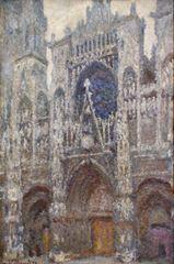 Rouen Katedrali, Ana Giriş (Gri Gökyüzü), 1892, Tuval üzerine yağlıboya, 100.2 x 65.4 cm, Muséed'Orsay, Paris, Fransa.