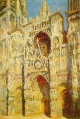 Rouen Katedrali, Ana Giriş, (Güneşli), 1893, Tuval üzerine yağlıboya, 107 x 73.5 cm, Muséed'Orsay, Paris, Fransa.