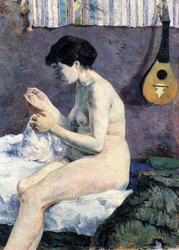 Çıplak Çalışması (Suzanne Dikiş Dikiyor), 1880 resmi