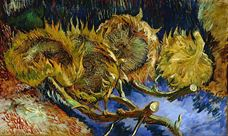 Show Four Cut Sunflowers, 1887 details