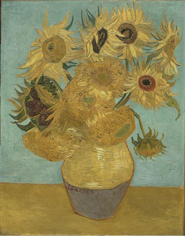 Ayçiçekleri, 1889 resmi