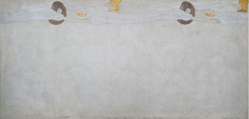 Beethoven Frizi: Mutluluğa Özlem (Uzun duvar, Pano 2), 1901 resmi