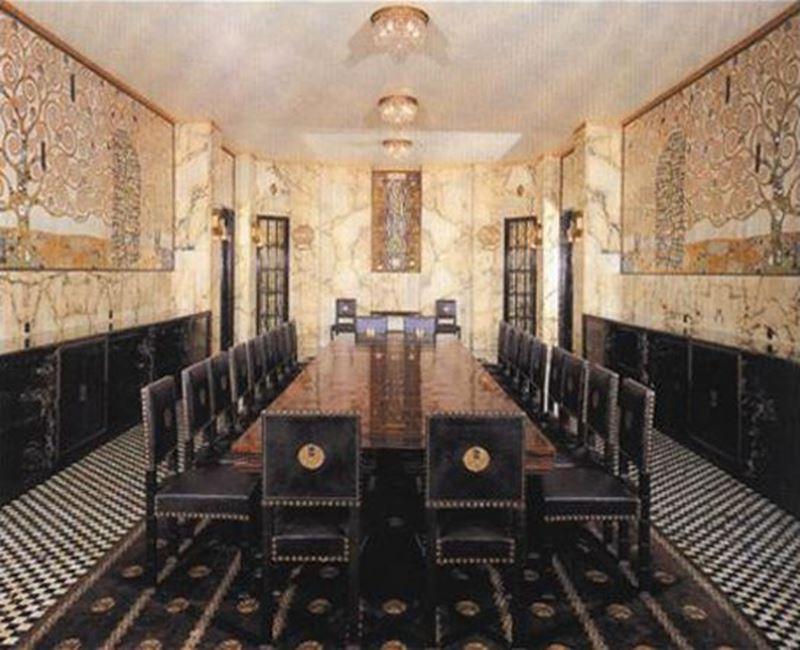 Stoclet Sarayı, Klimt'in mozaikleriyle süslü yemek odası, 1905-1911 resmi