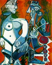 Show Nude Woman and Man with Pipe, 1968 details