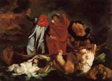 Dante Kayığı (Delacroix'dan esinle), 1870 dolayları