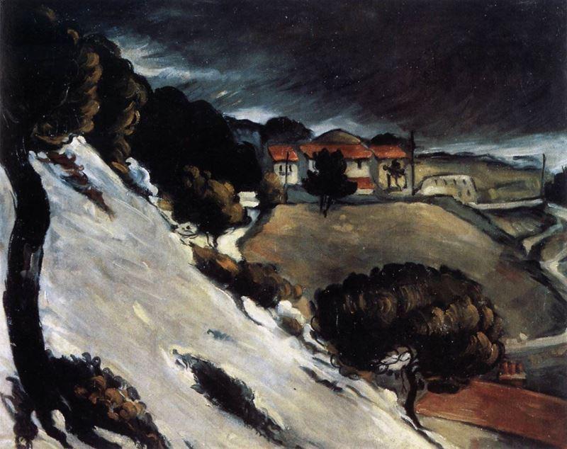 Estaque Yakınlarında Eriyen Kar, 1879 dolayları resmi