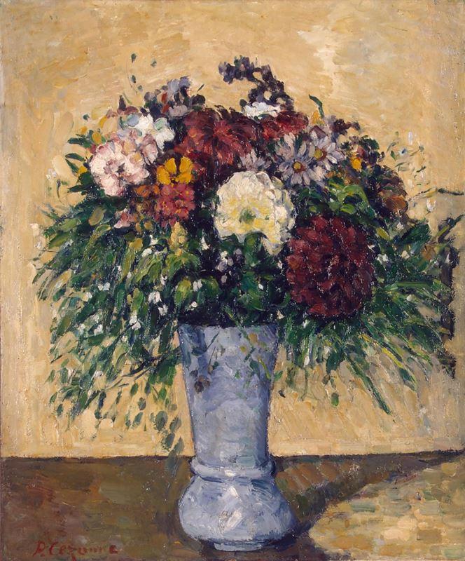 Mavi Vazoda Çiçekler, 1873-1875 resmi