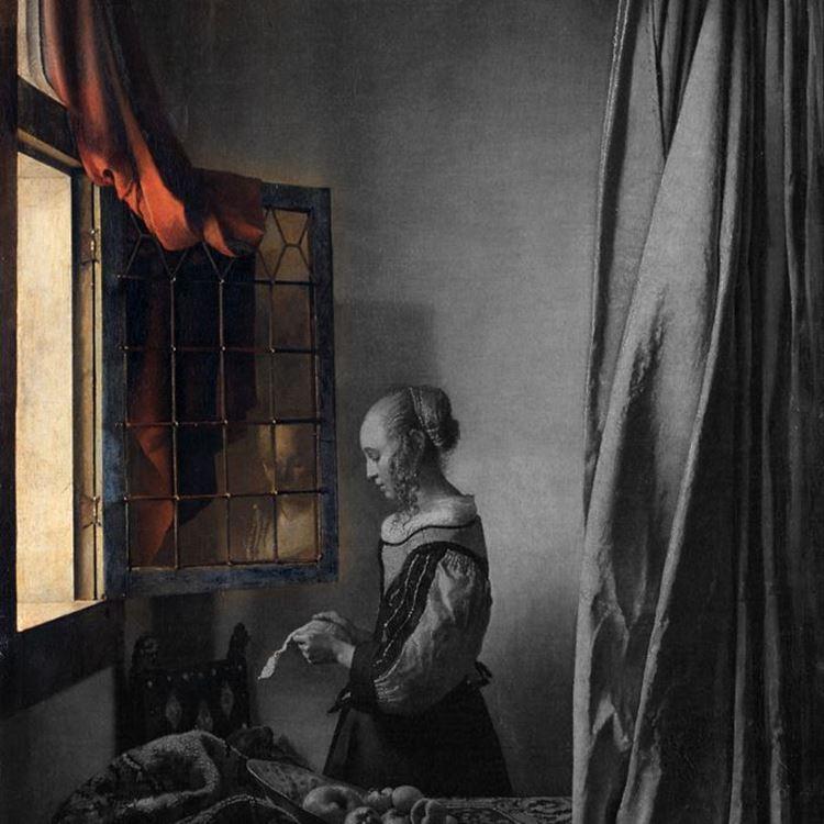 Açık Pencere Önünde Mektup Okuyan Genç Kız, 1659 dolayları picture