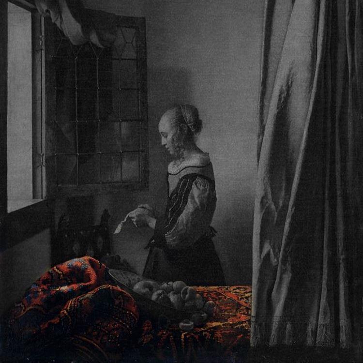Açık Pencerein Önünde Mektup Okuyan Genç Kız, 1659 dolayları picture