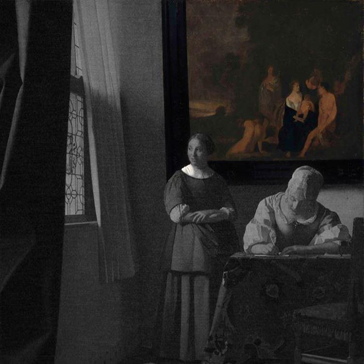 Hizmetçisi ile Mektup Yazan Kadın, 1670 dolayları picture