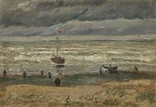 Show View of the Sea at Scheveningen, 1882 details