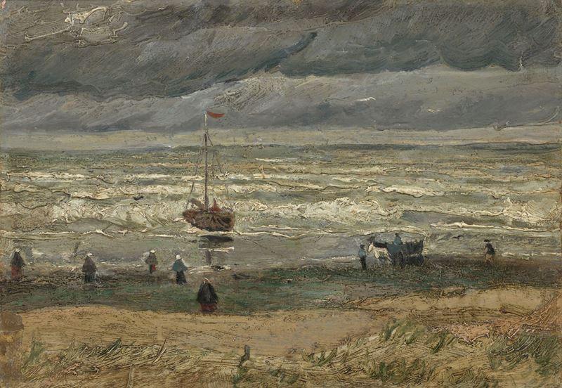 Scheveningen'de Deniz Manzarası, 1882 resmi