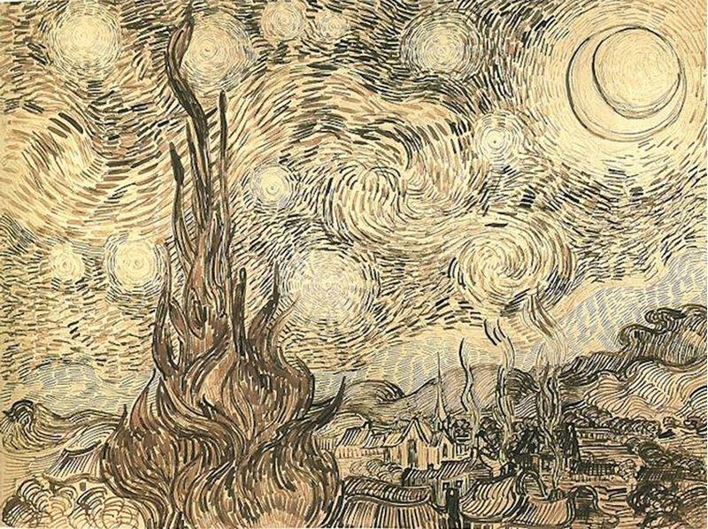 Yıldızlı Gece, 1889 resmi