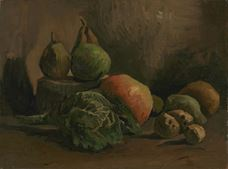 Show Still Life with Vegetables and Fruit, 1884 details