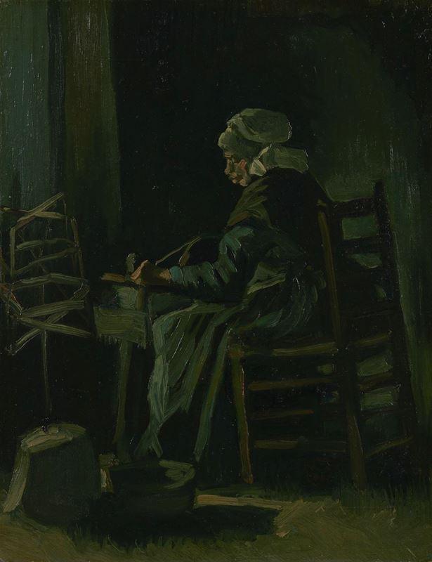 İplik Saran Kadın, 1885 resmi