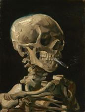 Show Head of a Skeleton with a Burning Cigarette, 1886 details