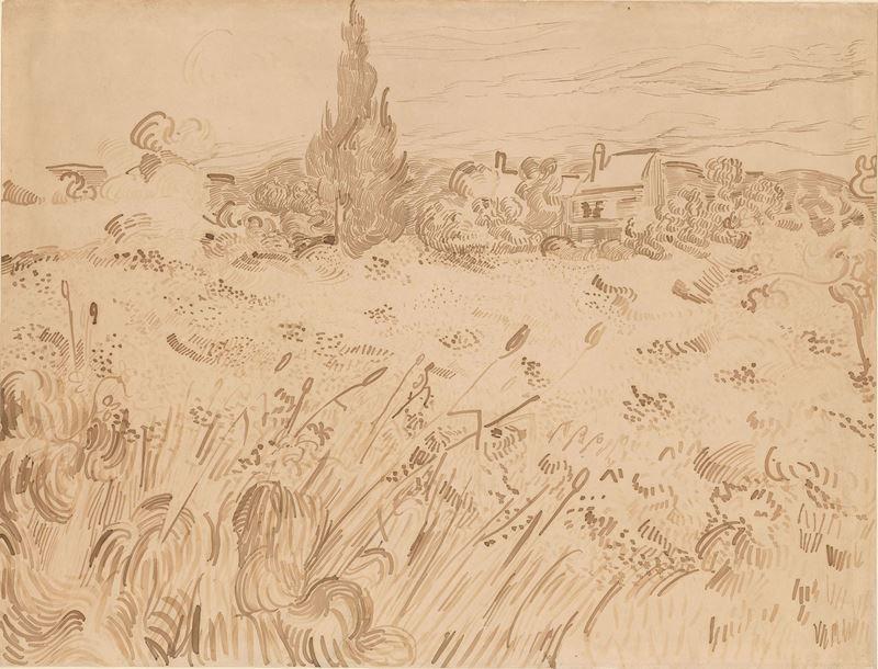Buğday Tarlası, 1889 resmi